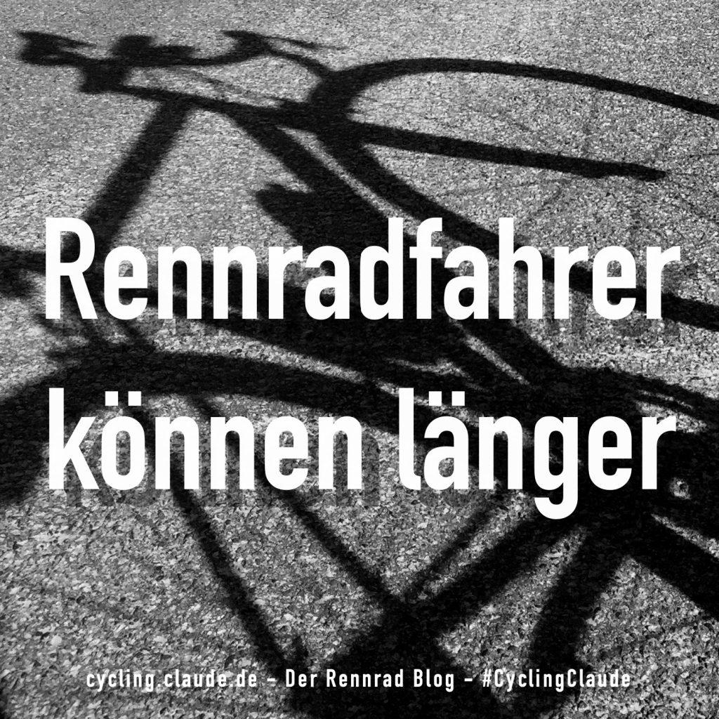 Rennradfahrer können länger