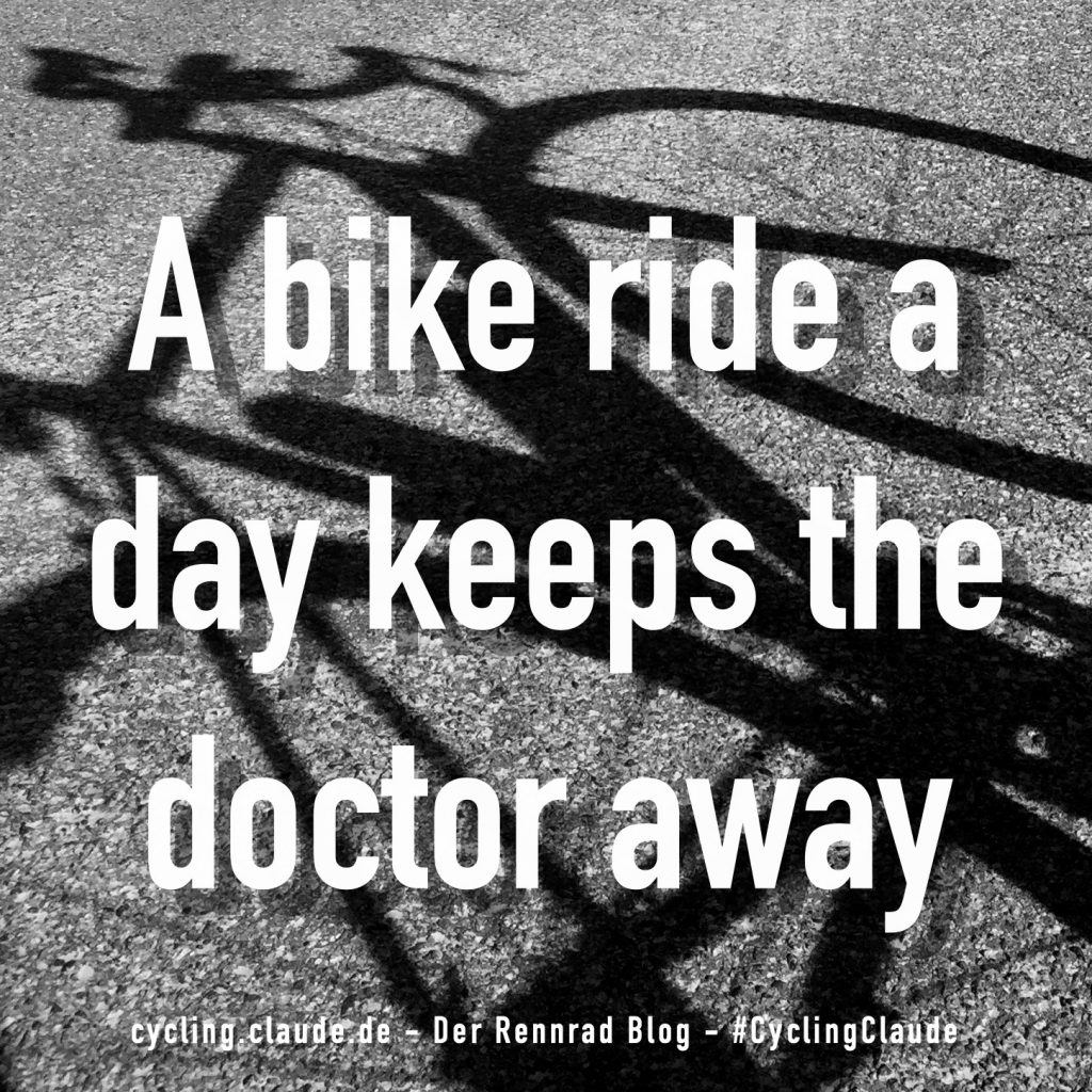 A bike ride a day keeps the doctor away