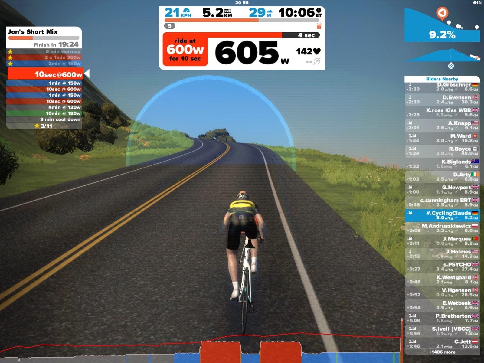 Zwift für iOS - CyclingClaude