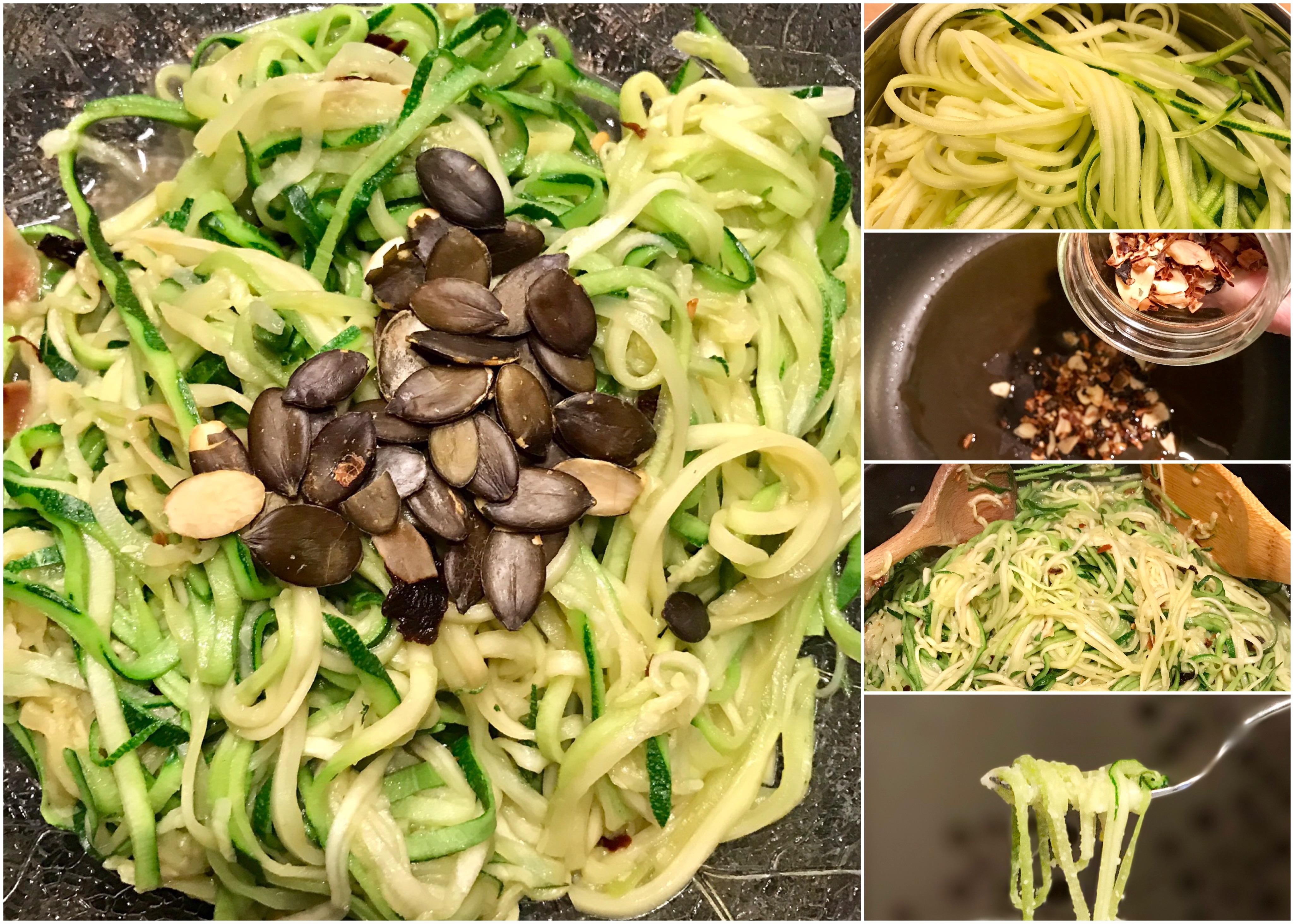 low carb zucchini spaghetti aglio e olio cyclingclaude. Black Bedroom Furniture Sets. Home Design Ideas