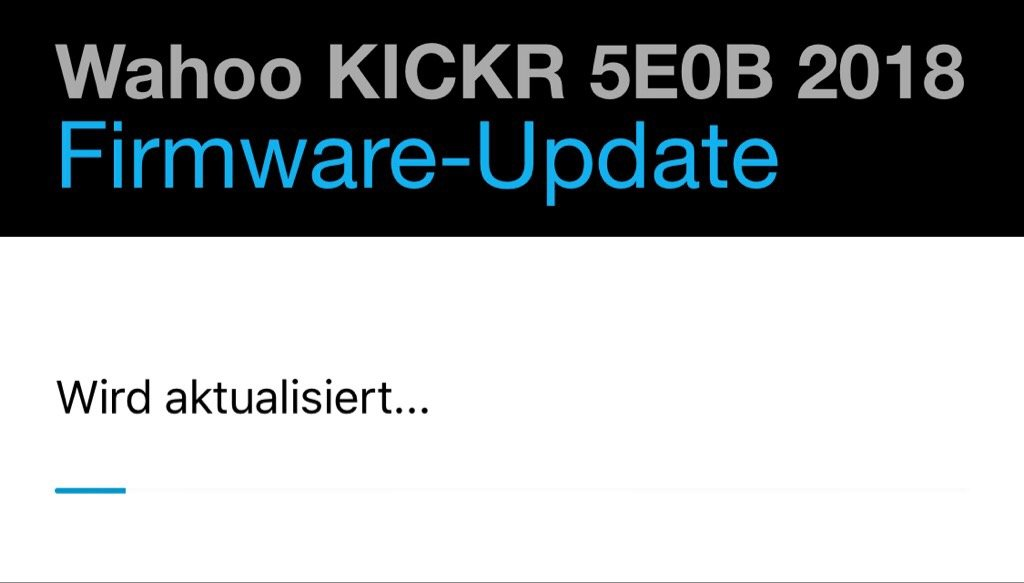 Wahoo KICKR 2018 Firmware-Update