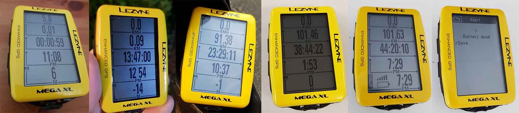 Burn time  Lezyne Mega XL