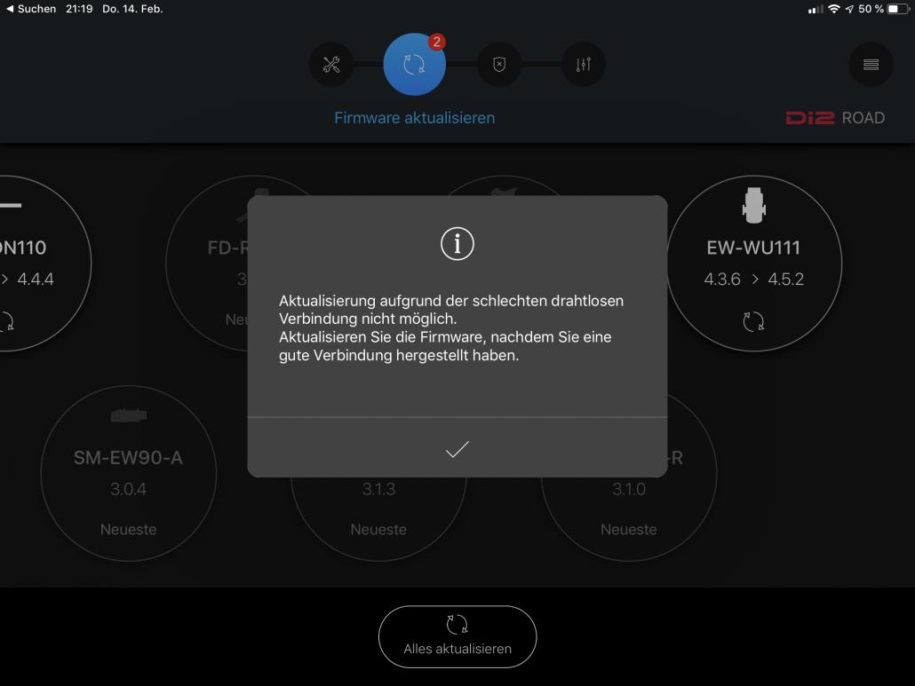 Bleutooth Problem Di2 wireless modul