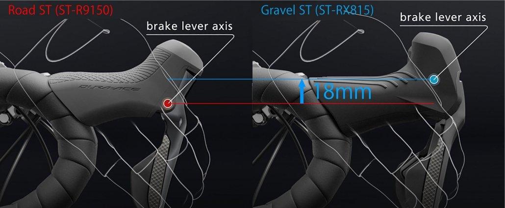 Shimano GRX Brems-Schalthebel