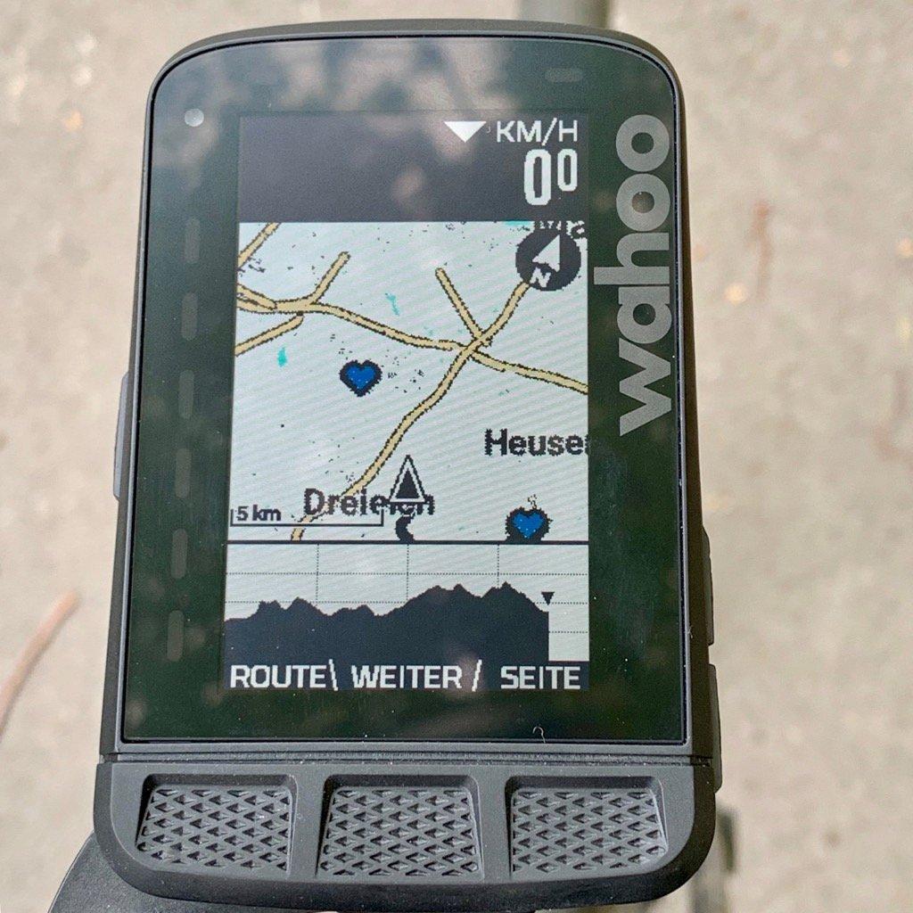 Wahoo ELEMNT ROAM Zoom Karte