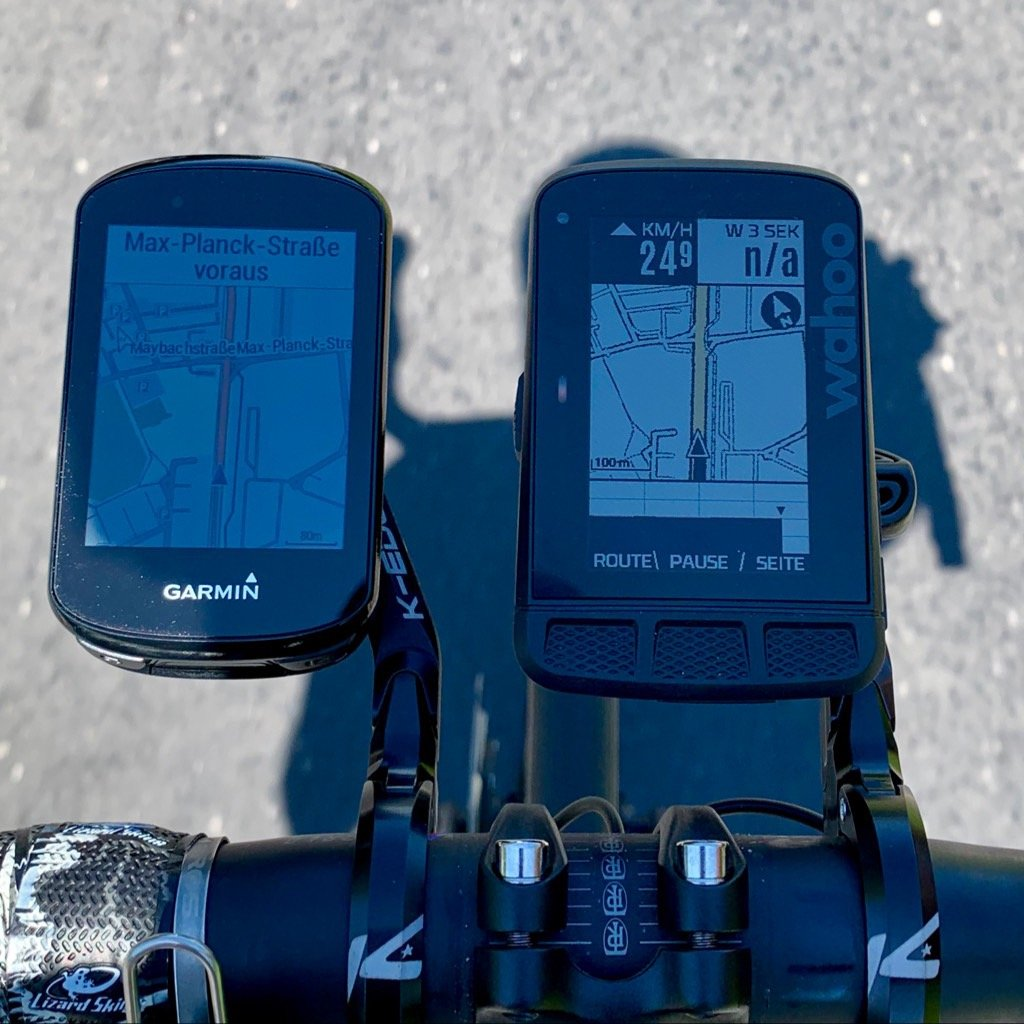Garmin Edge 830 display spiegelt