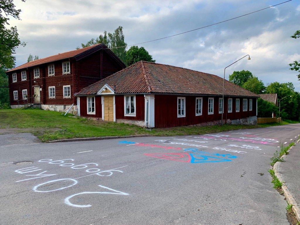 Medevi Brunn Straßenmalerei