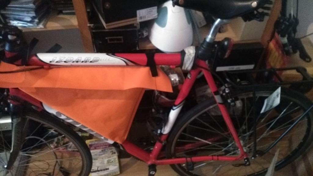 Bikepacking Rahmentasche selbst genäht