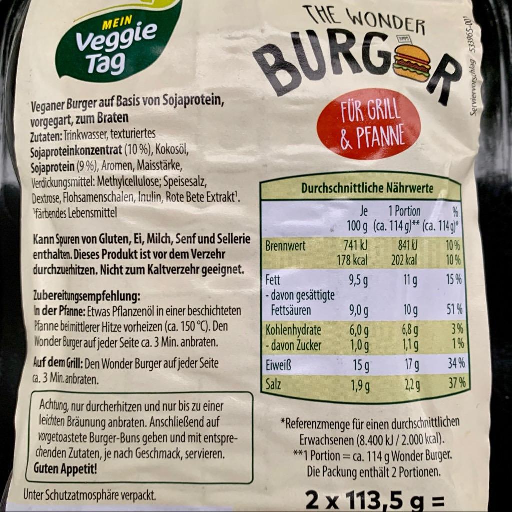 Aldi Vegan Burger