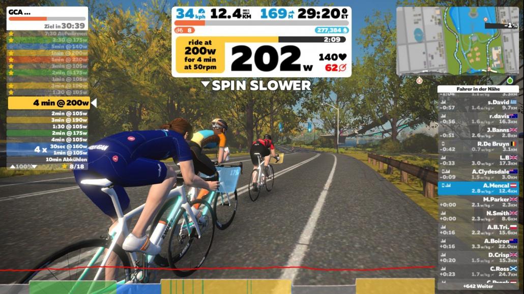 German Cycling Academy Bergtraining Zwift