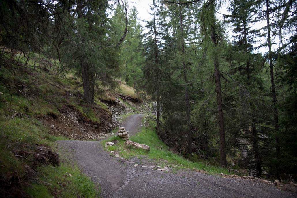 Flowtrail nach der Maibrunnhütte