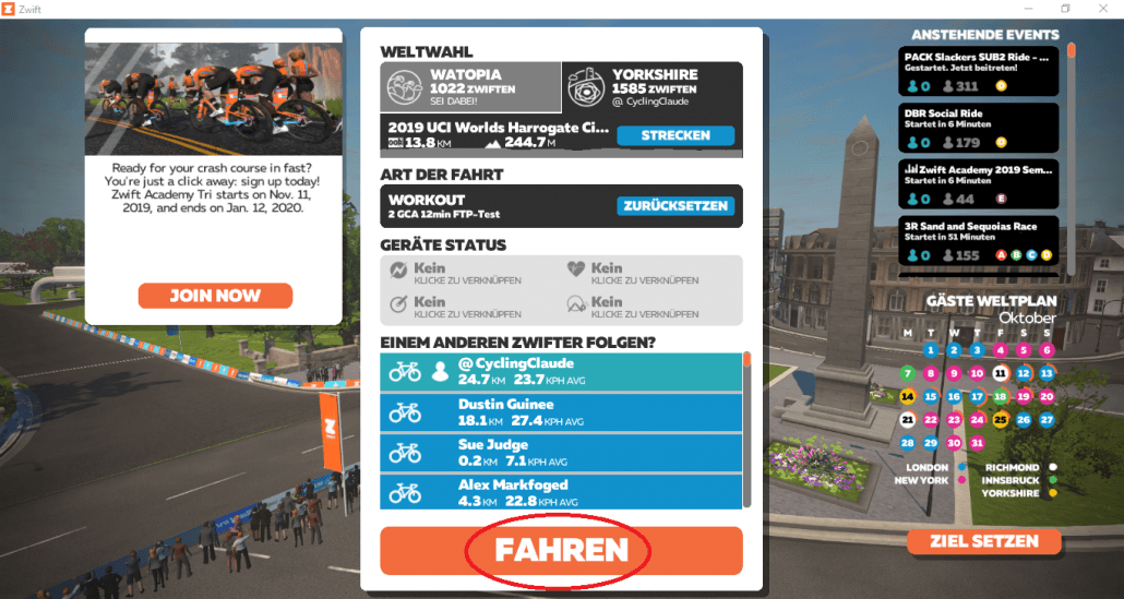 zwift eigene workouts