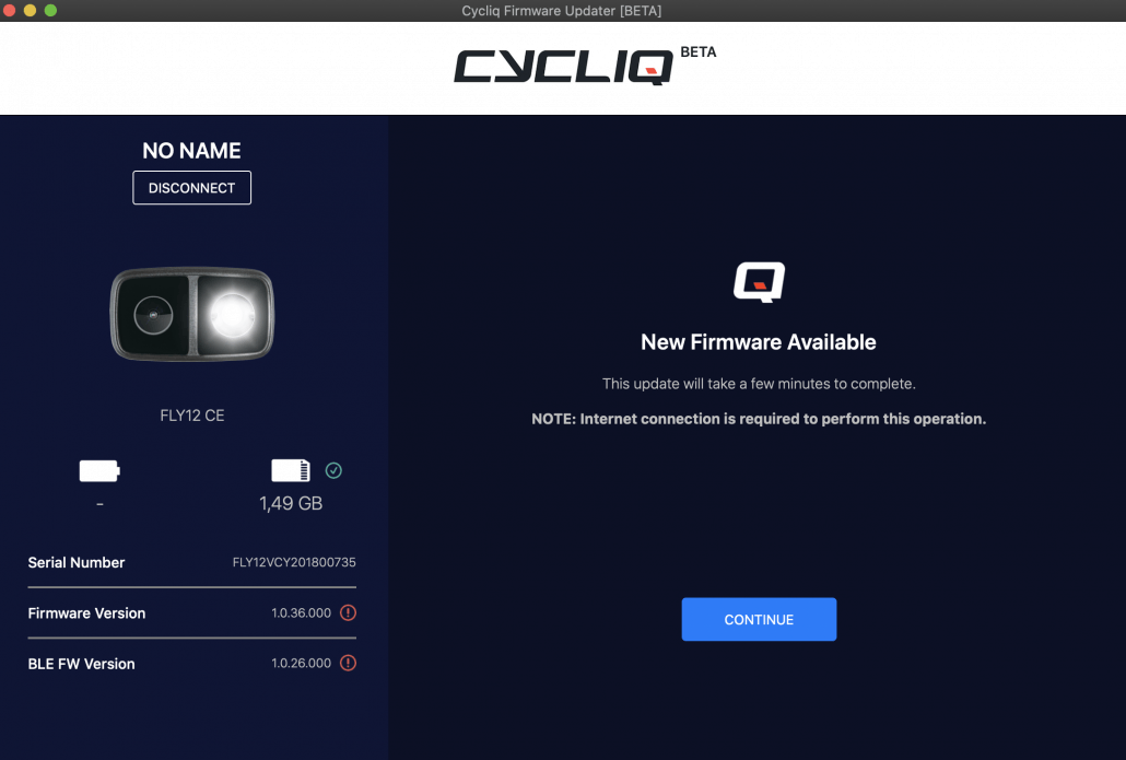 Fly12 CE Firmware Update