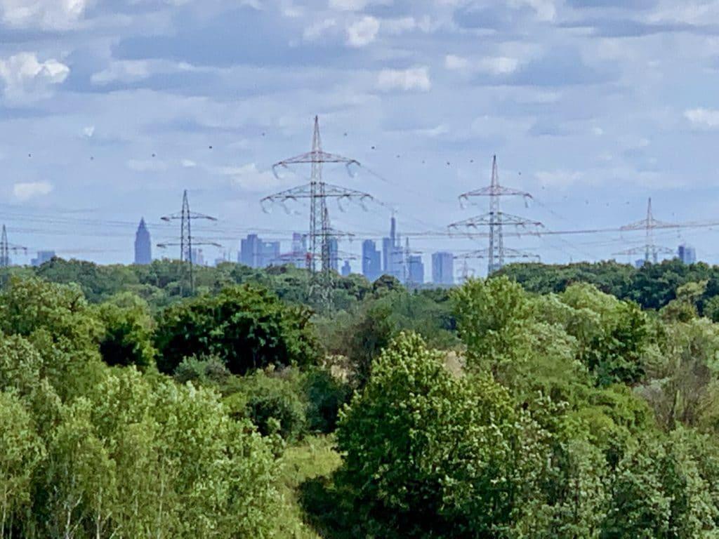 Blick auf die Skyline Regionalpark RheinMain Rundroute