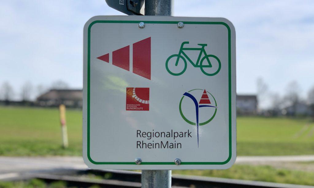 Regionalpark RheinMain Schilder