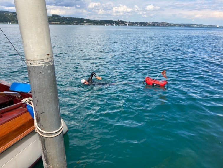 Schwimmen im Bodensee