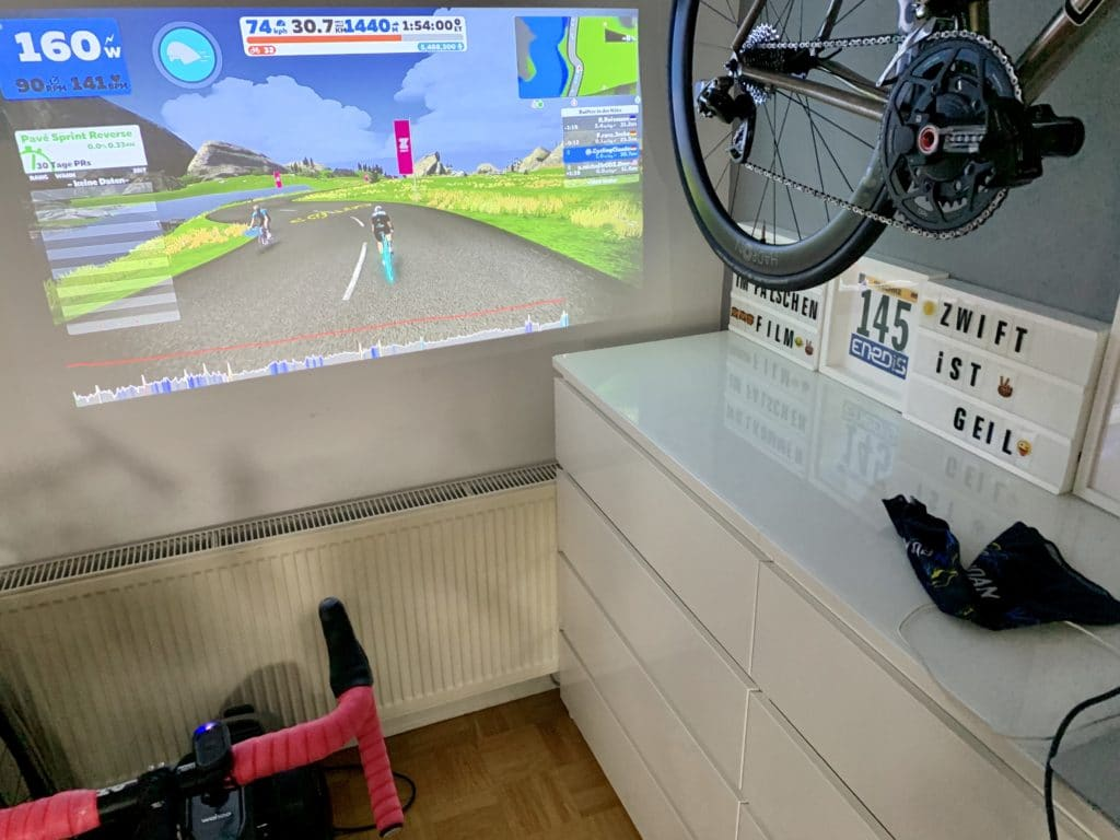 Zwift in der Paincave