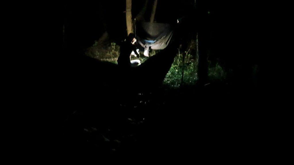 Nachts im Wald Bikepacking