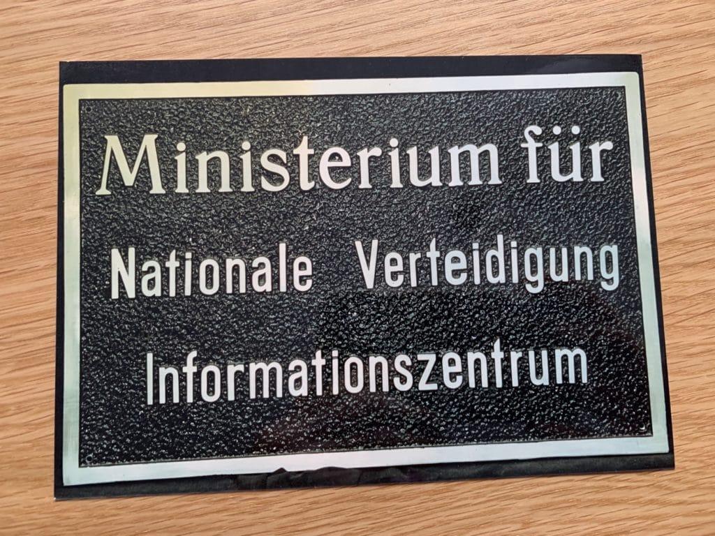 Ministerium für Nationale Verteidigung der NVA