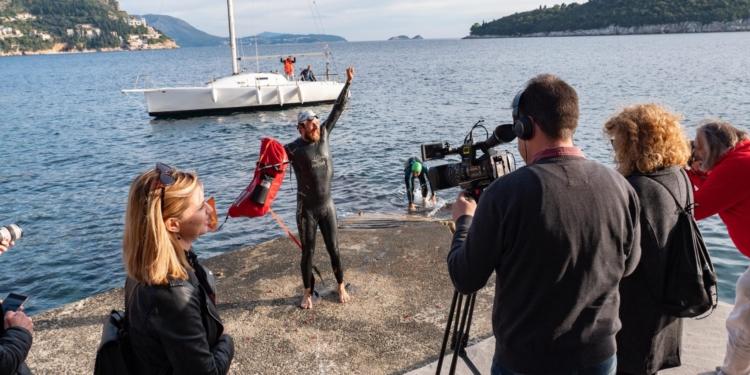 Schwimmweltrekord Jonas Deichmann