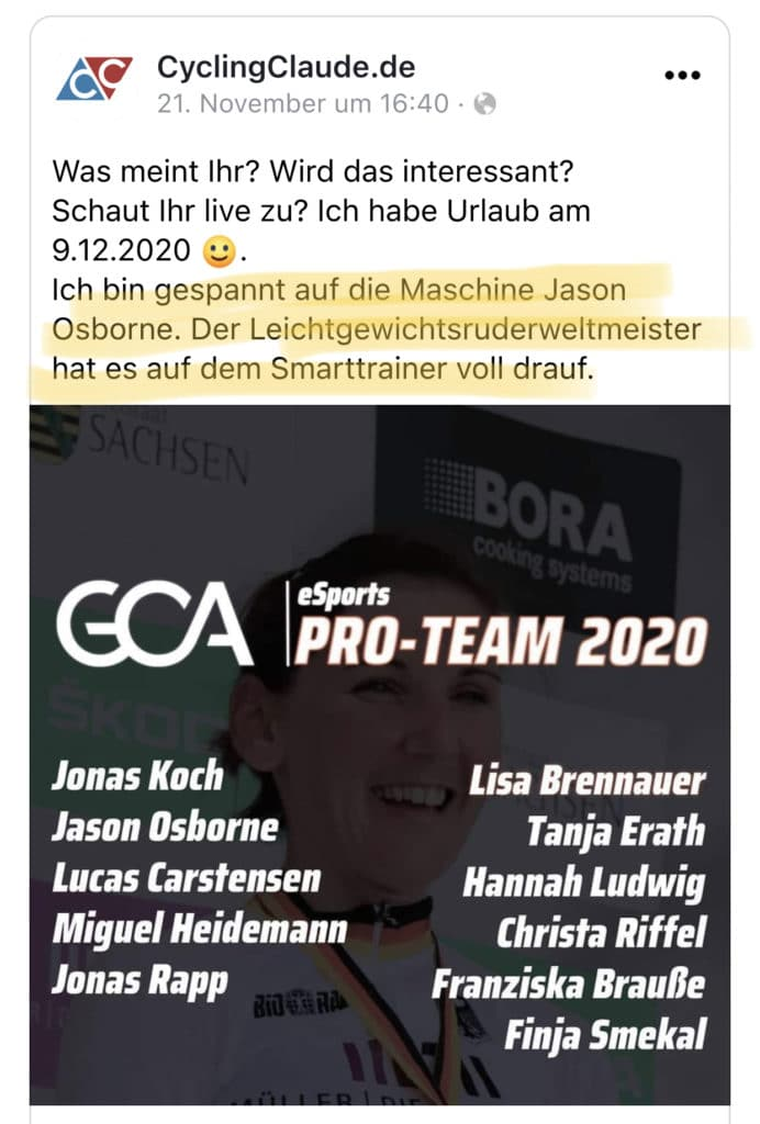 Jason Osborne UCI eSports Weltmeister