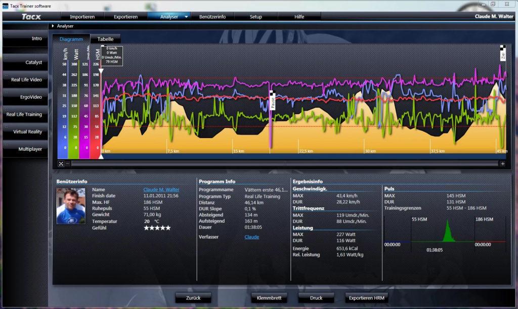 Eigene Strecke Tacx Trainings Software