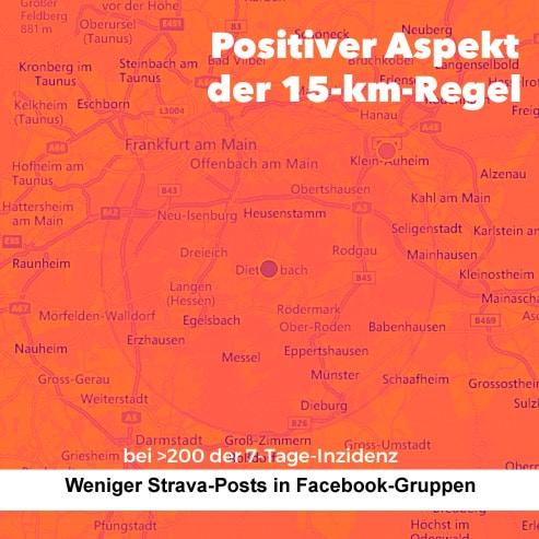 Strava-Aktivitäten auf Facebook.