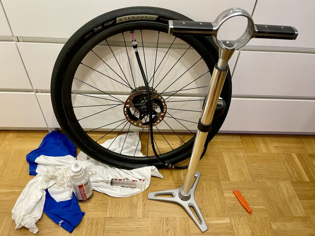 Tubeless Montage