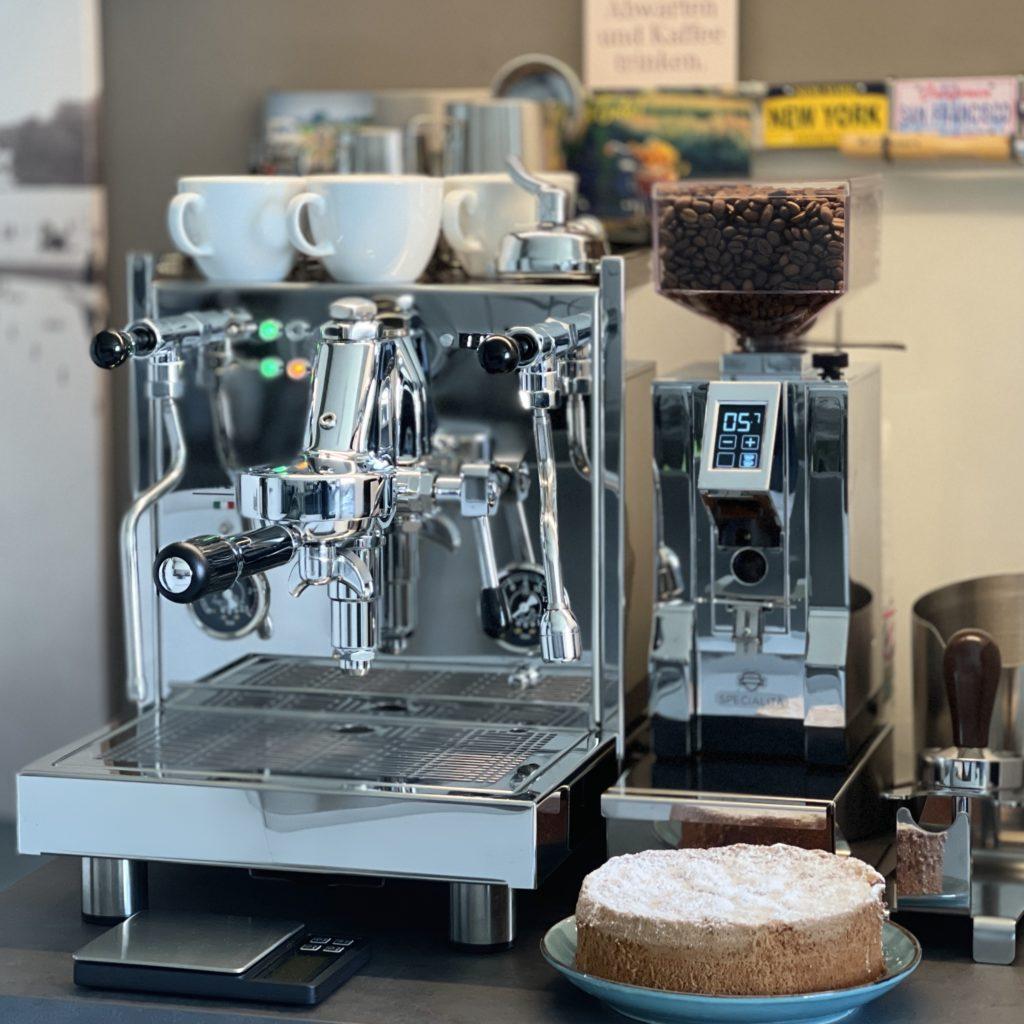 Nabdelkuchen und Espresso Quickmill Vetrano 2B Sebastiano