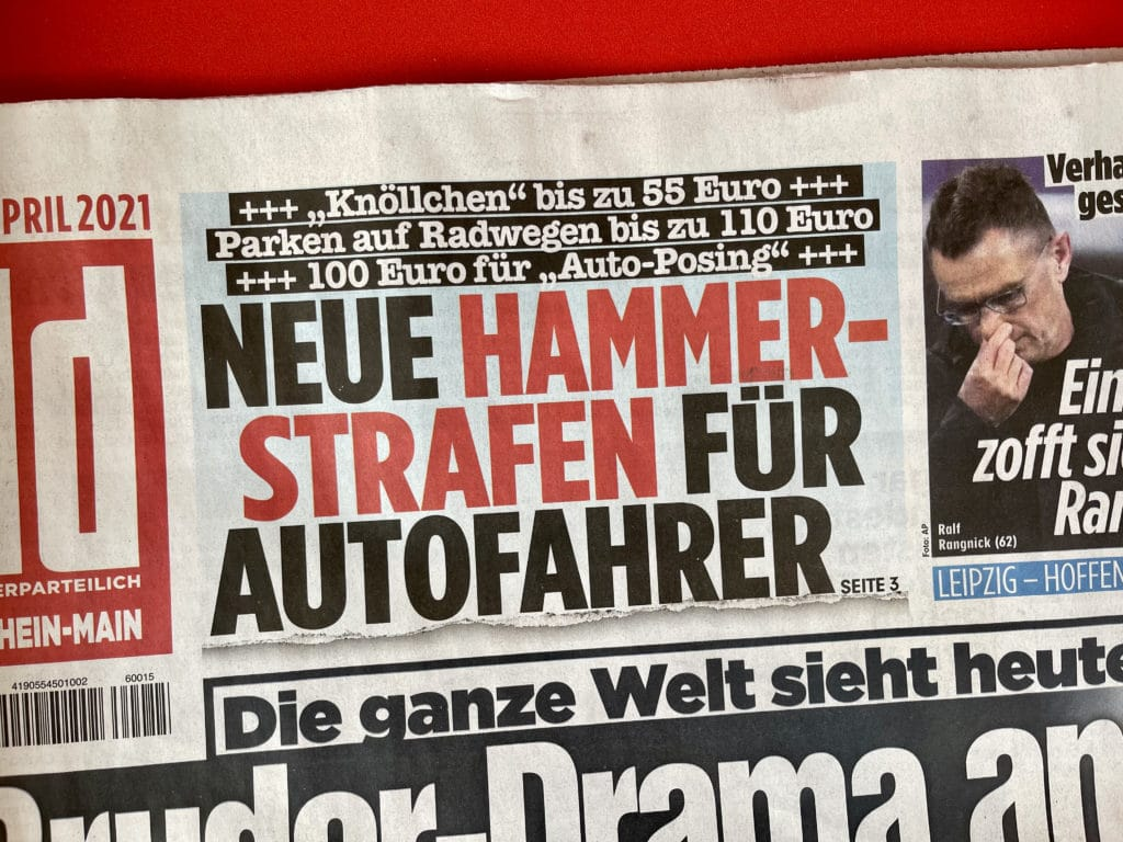 Bild-Zeitung Hammerstrafen für Autofahrer