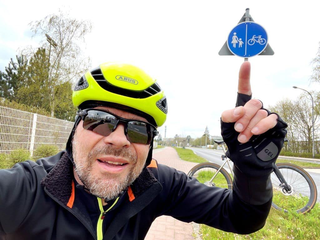 Radweg Dietzenbach Schild wechseln