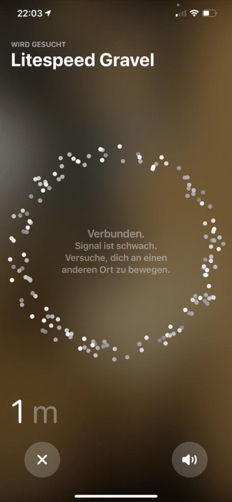Signalstärke AirTag